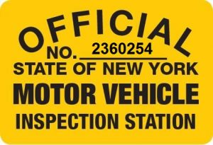 regional inspection station sign